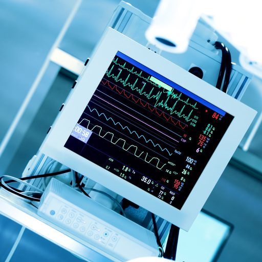 Monitoring of the patient's heart during surgery